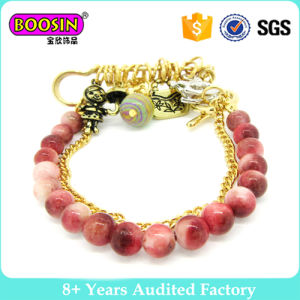 Fashion Jewelry Gold Plated Glass Bead Bracelet #31469 pictures & photos