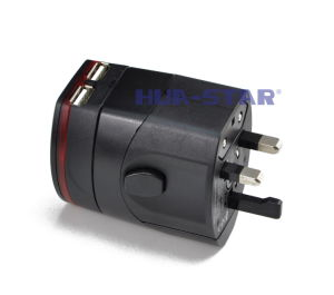Travel Adapter with USB Charger (HS-T099DU) pictures & photos