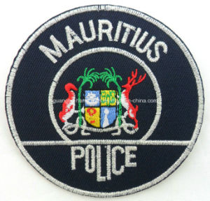 Custom 100% Polyester Embroidery Security Shield Patch pictures & photos