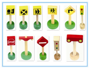 Signpost Series for Train Set, Wooded Toy