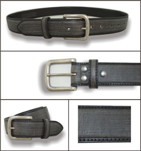 Dark Grey Genuine Leather Fashion Belt pictures & photos