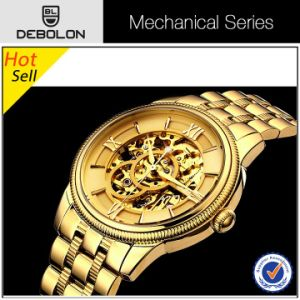 24k Gold Watches Mechanical Automatic Watch for Men