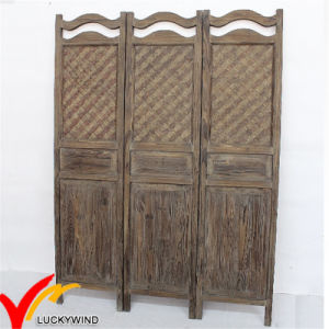 Vintage Antique Wooden Folding Screen Room Divider pictures & photos