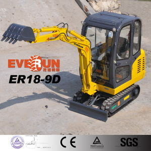 Er18 (1.8t) Crawler Hydraulic Backhoe Mini Excavator with Canopy pictures & photos