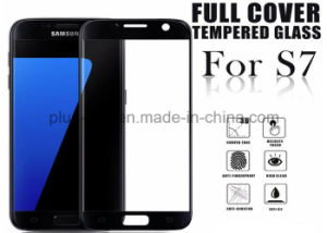 3D Curved 0.33mm Full Color Cover Tempered Glass Screen Protector 9h Anti-Scratch Screen Film for Samsung S7 pictures & photos