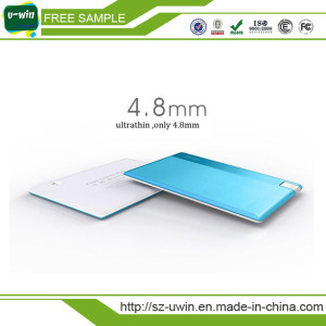 Credit Card Mini Portable Power Bank 2600mAh pictures & photos