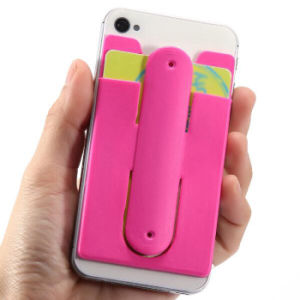 Touch U Shape Silicone Phone Stand Holder with Card Slot pictures & photos