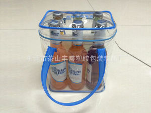 Reach Standard Custom PVC Clear Wine Bag with Zipper pictures & photos