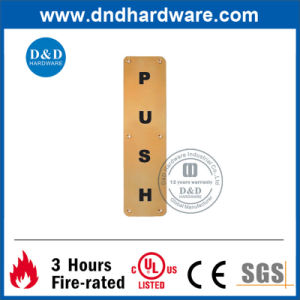 Ss304 Square Type Sign Plate Push Indication pictures & photos