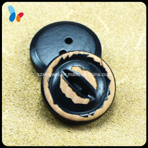 New Style 20mm Nature Black Wood 2 Holes Button pictures & photos