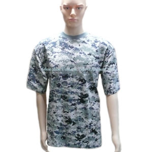 Digital Pattern Camo Men′s T Shirt for Amry pictures & photos