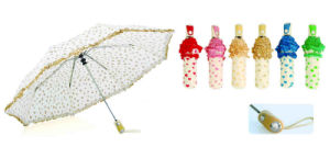 Heart-Print&Skirt Compact Automatic Umbrellas (YS-3FA22083380R) pictures & photos