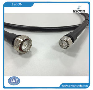 DIN 7/16 Male to 4.3-10 Male RF Coaxial Low Pim Test Cable Assembly pictures & photos