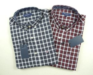 Fashion Plaid Long Sleeve Shirt Ready Stock Clothes pictures & photos