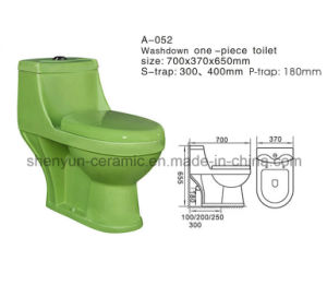 Ceramic Toilet One-Piece Color Water Closet Washdown (A-052) pictures & photos