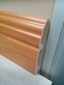 Ck PVC 10cm Height Foam Skirting Clips Installtion pictures & photos