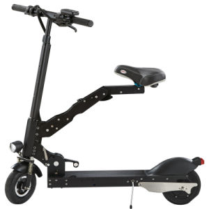 Foldable Electric Bicycle, Skateboard with Seat and Two Wheels pictures & photos