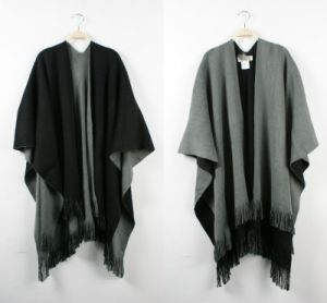 Lady Fashion Acrylic Woven Fringed Plain Winter Shawl (YKY4454) pictures & photos
