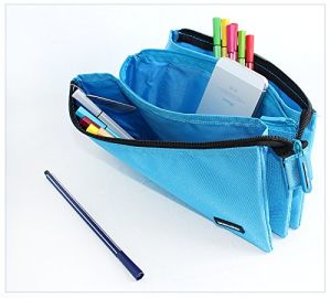 Simple Polyester Zipper Pencil Bag pictures & photos