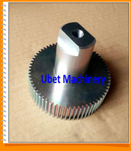 Made-to-Order Colorful Zinc Coated Steel Toothed Gear with Shaft pictures & photos