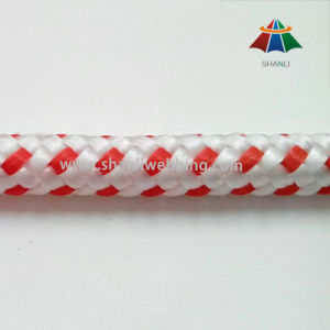 Good Quality 9mm Red and White Braid PP Cord pictures & photos
