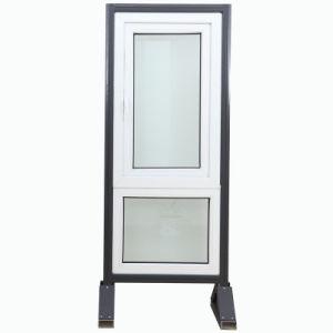 Design Acoustical Insulation Plastic PVC Double Swing Glass Casement Window pictures & photos