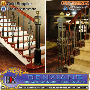 Power Coating Wrought Iron Steel Staircase pictures & photos