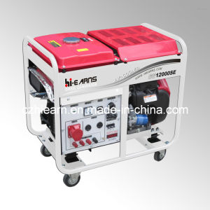 8kw Air-Cooled Two Cylinder Gasoline Generator with Wheels (GG12000E) pictures & photos