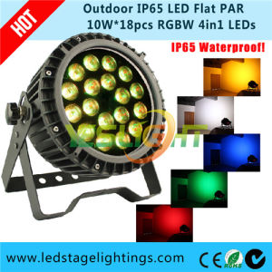 Super Bright LED Flat PAR Light RGBW 4in1 Epistar LEDs with Ce, RoHS pictures & photos
