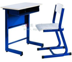 Classroom Furniture Standard Size of School Desk Chair Single School Table and Chair School Furniture Sf-10f pictures & photos