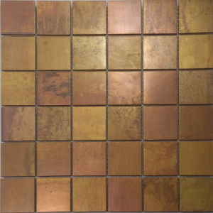Natural Wood Color Mosaic Tiles/48*48mm Particle/Seamless Mosaic Tiles pictures & photos