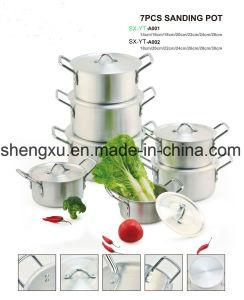 Alloy Aluminium Coated Non-Stick Sanding Pot Cookware Sets Sx-A001-A002 pictures & photos