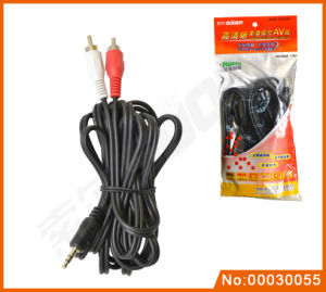 3.5mm 3 Lines to 3 RCA Audio/Video Cable (AV-33A-1.8M) pictures & photos