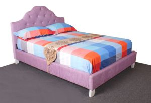 Pink Fabric Bed Home Bedroom Furniture