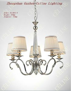 Modern Crystal Pendant Light with Fabric Shade (SL2010-5) pictures & photos