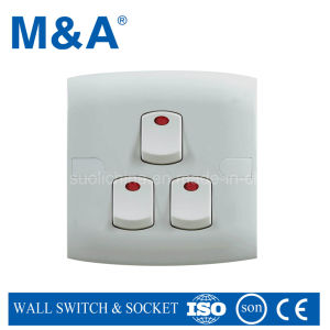 Me Series 3 Gang 1 Way Switch (W/N) pictures & photos