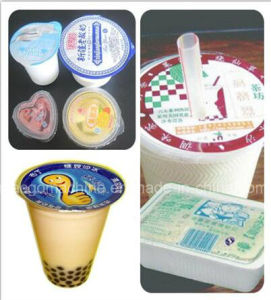 Automatic Linear Cup Filling Sealing Machine (reel film sealing) pictures & photos