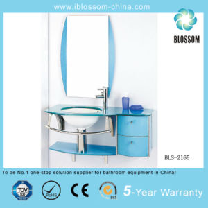 Bathroom Glass Vanity Cabinet (BLS-2165) pictures & photos