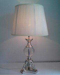 Phine 90198 Clear Crystal Table Lamp with Fabric Shade pictures & photos