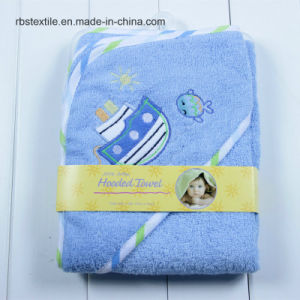 Cute Designs of Cotton Baby Hooded Bath Towel Poncho pictures & photos