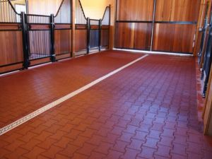 Red Beauty Rubber Horse Flooring Tile/Rubber Paver pictures & photos