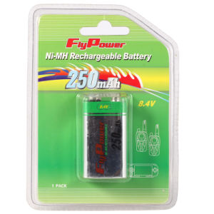Ni-MH 8.4V 250mAh Rechargeable Battery 9V Ni-MH Battery (FH-7250)