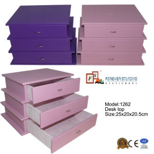 Dresser Drawers Desktop Jewelry and Cosmetic Organizer (1262) pictures & photos