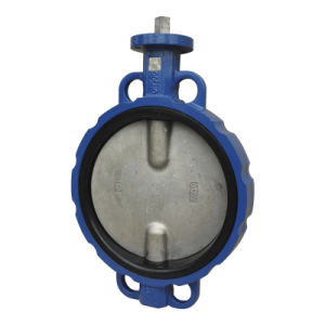 Wafer Type Concentric Butterfly Valve with Bare Shaft Operator pictures & photos