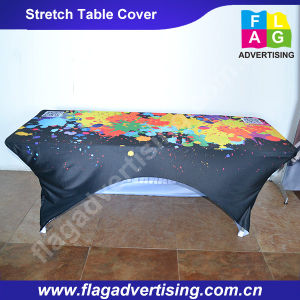 Full Color Printing Custom Stretch Table Throw/Table Cover pictures & photos
