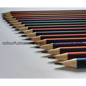 Wholesale Stripped Hb Pencil with Dipped Ending pictures & photos