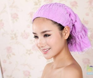 Long Style Custom Women Cotton Hair Towel pictures & photos