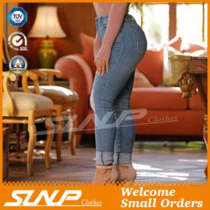 Ladies Leisure Fashion Denim Jeans Pant with Hole