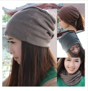 Multifunction Plain Winter Knitted Wool Hat pictures & photos