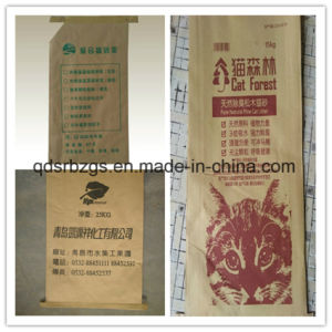 China Made Cat Litter Kraft Paper Woven Bag pictures & photos